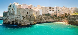 Panoramic view of Polignano a Mare, Puglia